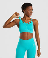 Gymshark Energy+ Seamless Sports Bra - Tropical Blue 9