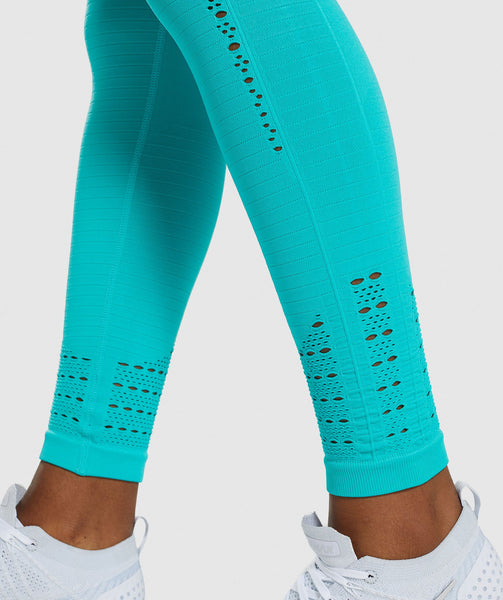 Gymshark Energy+ Seamless Leggings - Tropical Blue 3