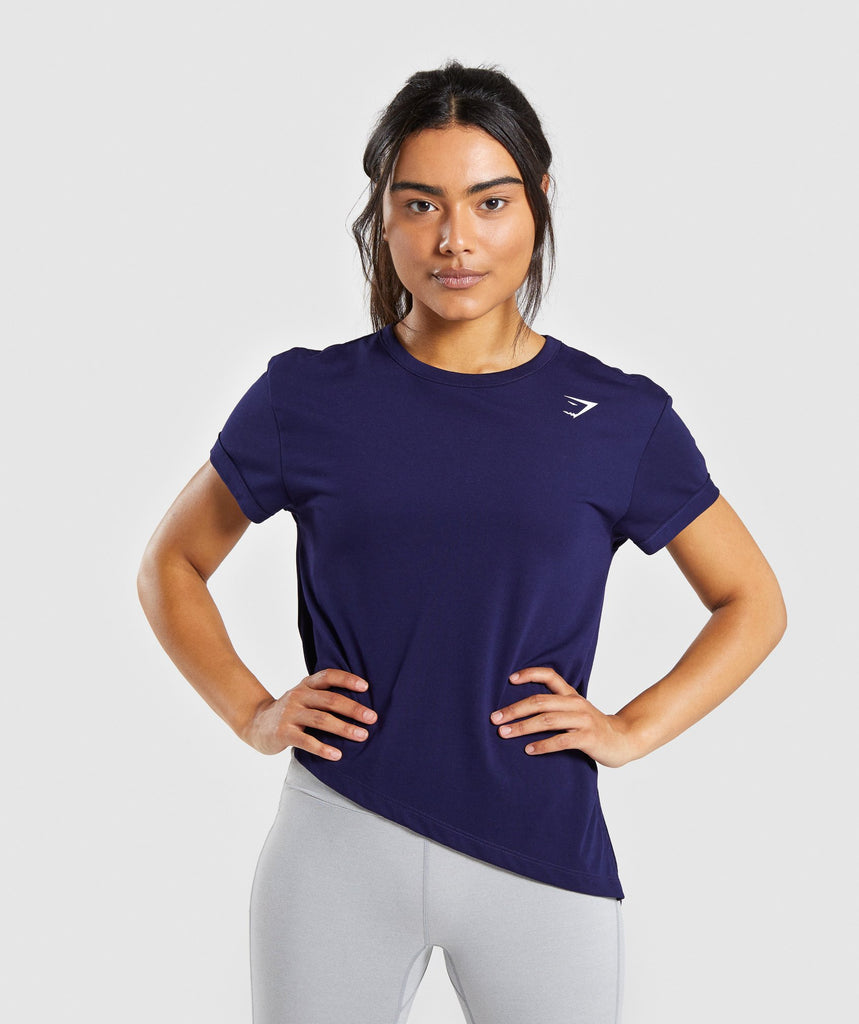 Gymshark Essential Tee - Evening Navy Blue 4