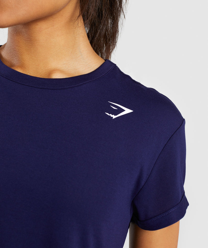 Gymshark Essential Tee - Evening Navy Blue 6