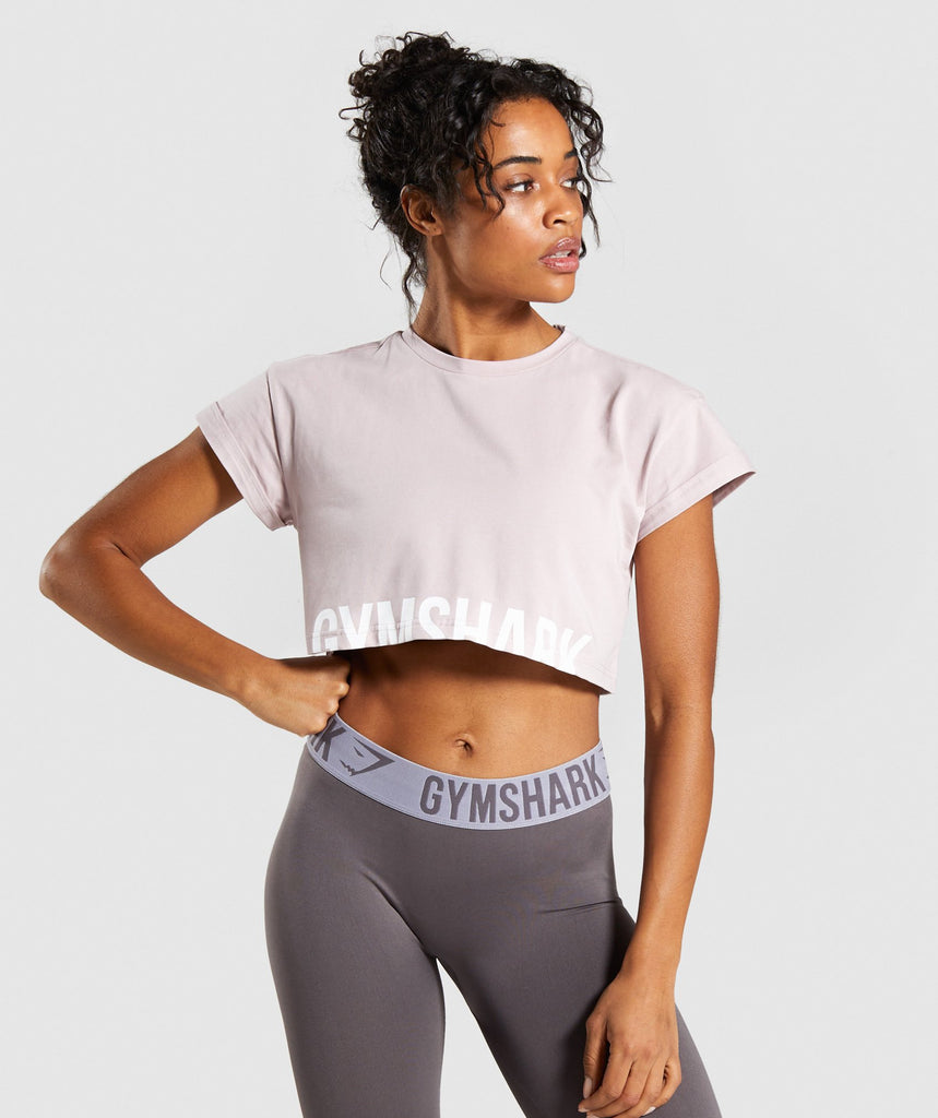 Gymshark Fraction Crop Top - Pebble Pink 1