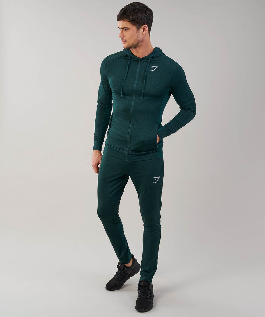 Gymshark Fallout Bottoms - Forest Green Marl 1