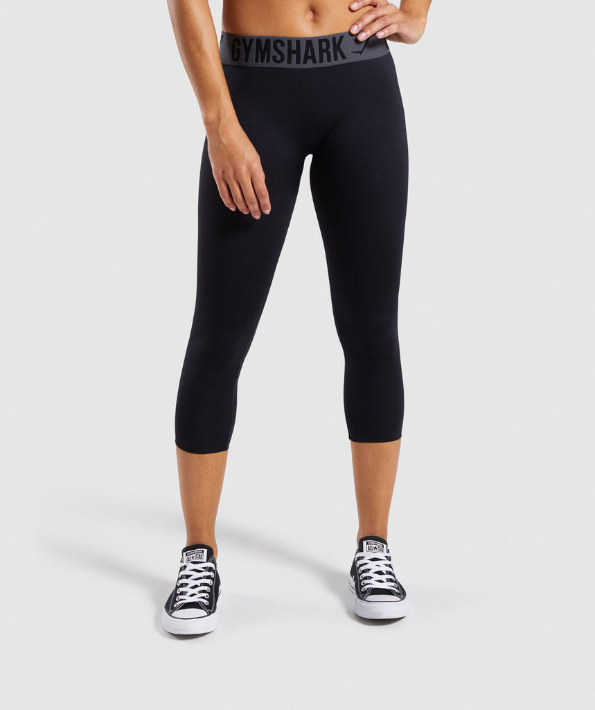 Gymshark Fit Cropped Leggings - Black 4