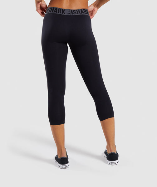 Gymshark Fit Cropped Leggings - Black 1