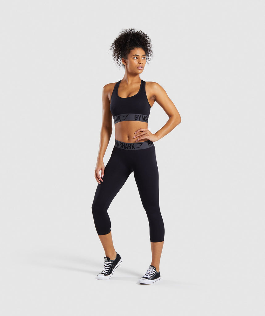 Gymshark Fit Cropped Leggings - Black 6