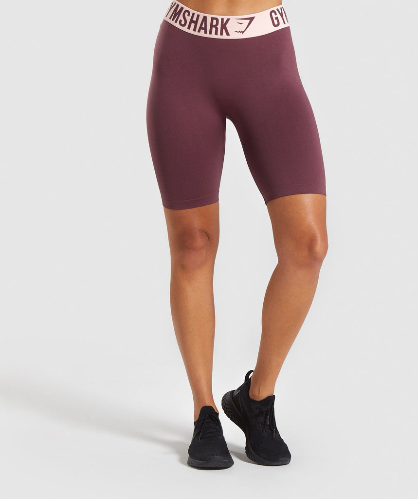Gymshark Fit Cycling Shorts - Berry Red/Pink 1