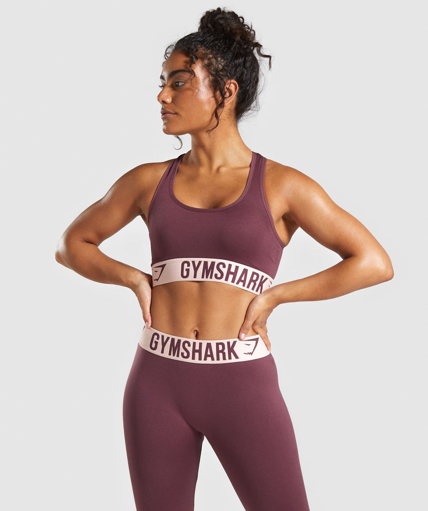 Gymshark Fit Sports Bra - Berry Red/Pink 1