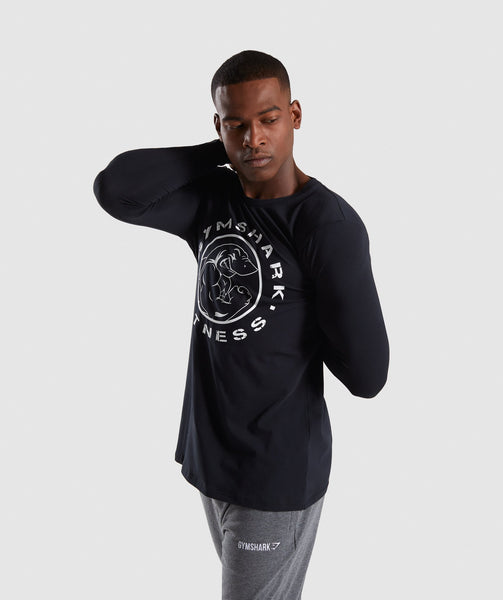 Gymshark Legacy Long Sleeve T-Shirt - Black 2