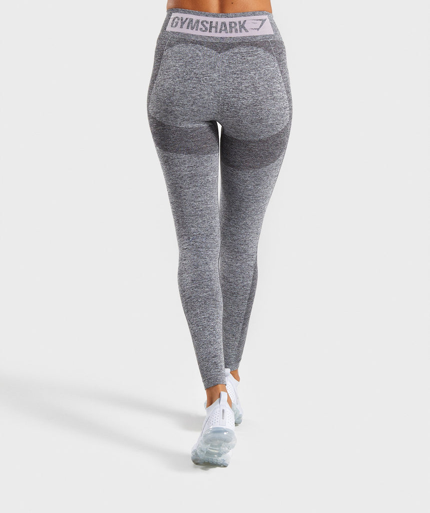Gymshark Flex High Waisted Leggings - Grey/Pink 2