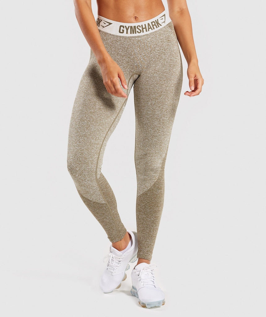 Gymshark Flex Leggings - Khaki/Sand 2