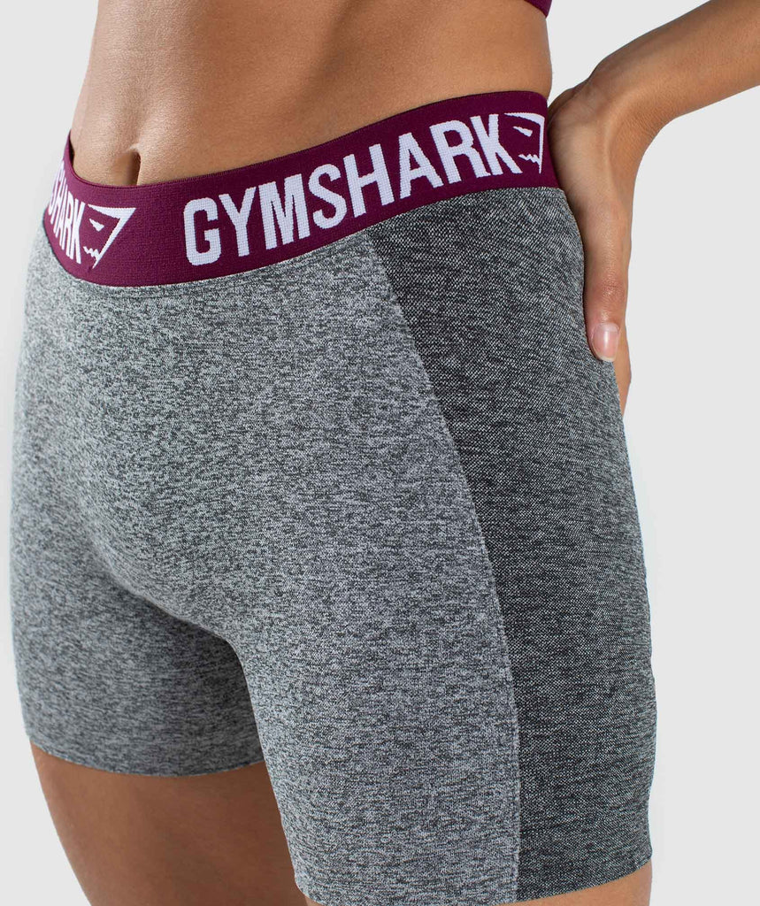 Gymshark Flex Shorts - Charcoal/Deep Plum 5