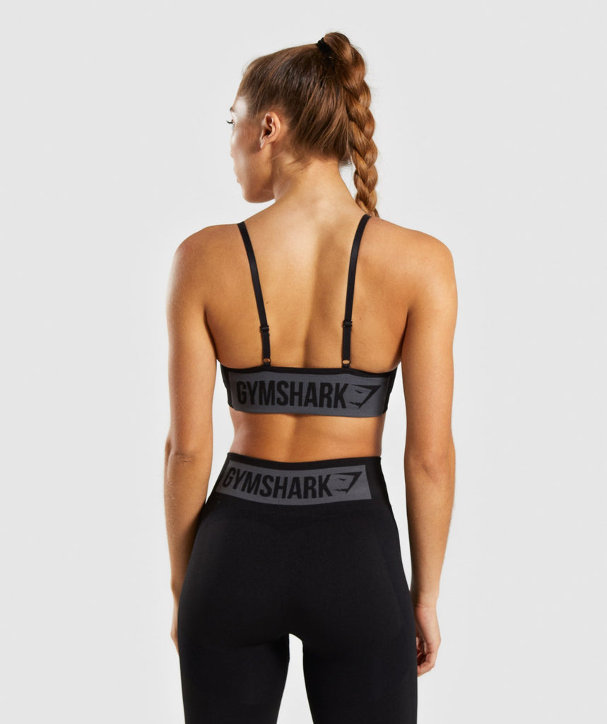 Gymshark Flex Strappy Sports Bra - Black/Charcoal 4