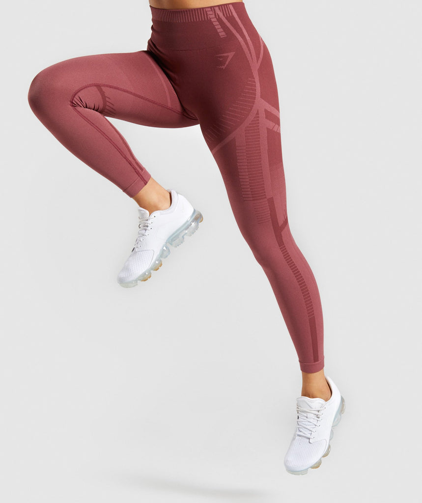 Gymshark Geo Seamless Leggings - Rose 1