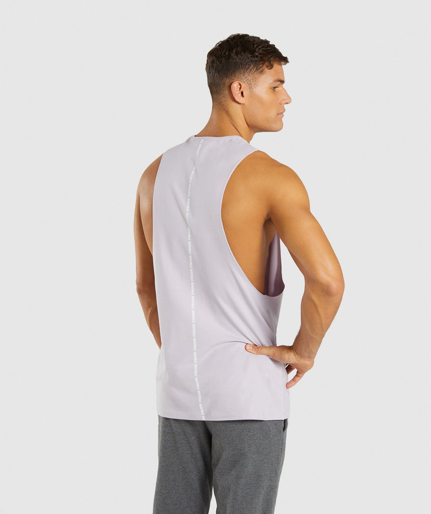 Gymshark Linear Tank - Purple Chalk 2
