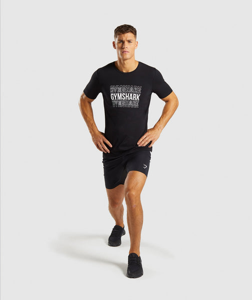 Gymshark Haze T-Shirt - Black 3