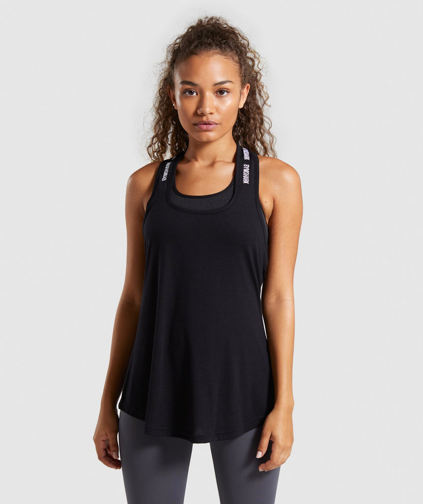 Gymshark Ark Halter Neck Vest - Black/White 1
