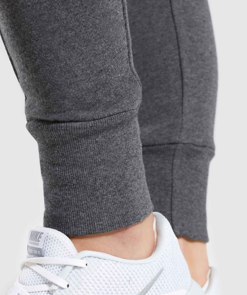 Gymshark High Waisted Joggers - Charcoal Marl 5