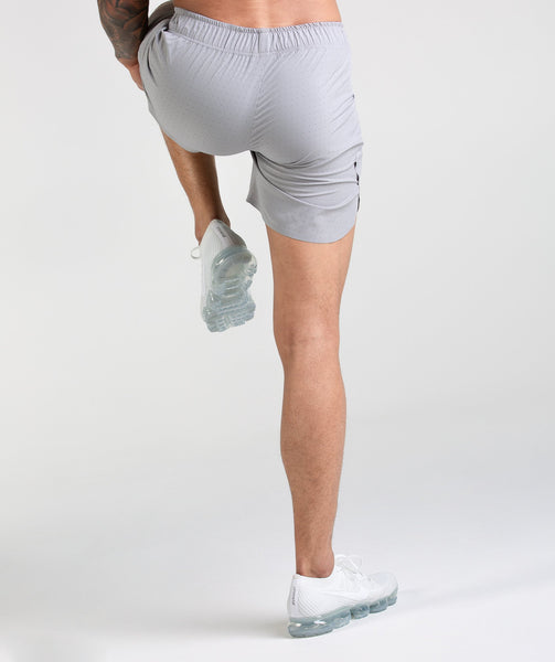 Gymshark Perforated Shorts - Light Grey 2