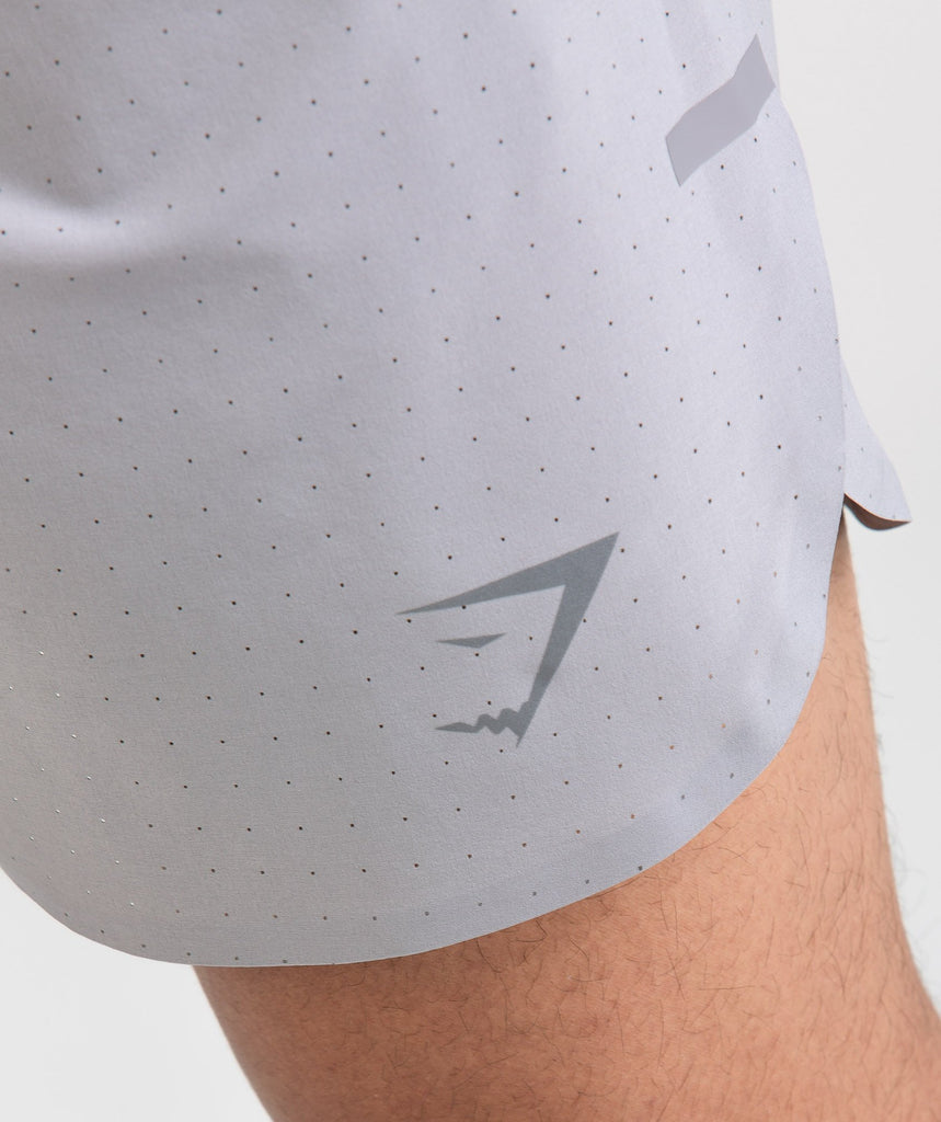 Gymshark Perforated Shorts - Light Grey 5