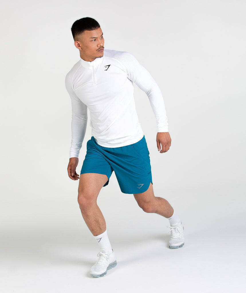Gymshark Perforated Shorts - Deep Teal 2