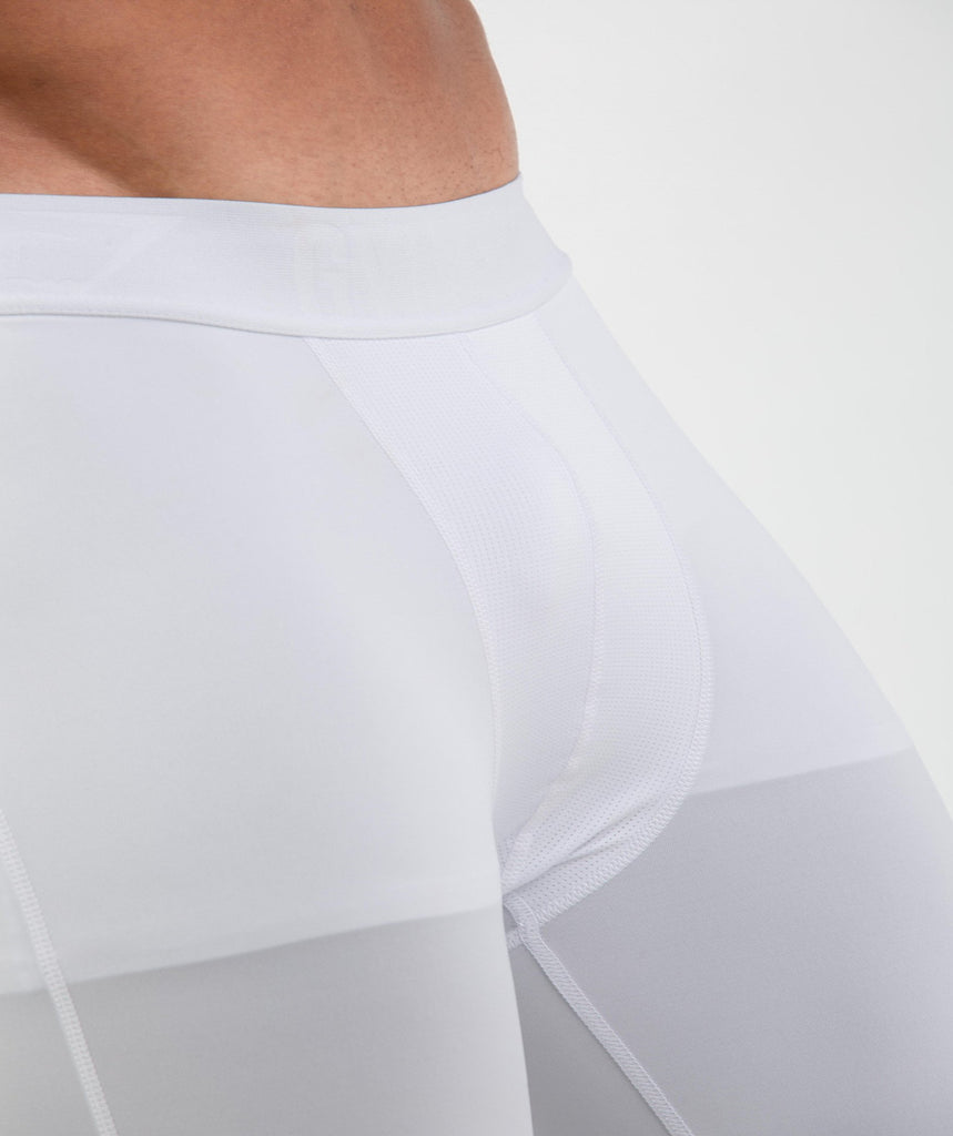 Gymshark Element Baselayer 3/4 Leggings - White 6