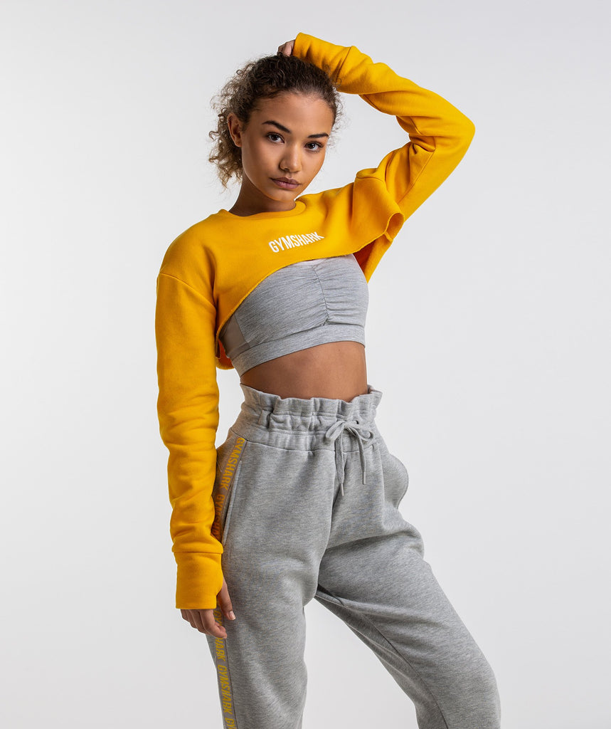 Gymshark Super Cropped Sweater - Citrus Yellow 1