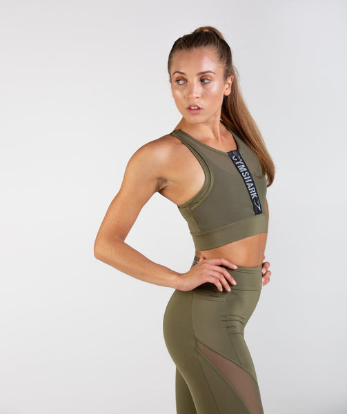 Gymshark Elevate Sports Bra - Khaki 2