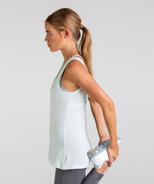 Gymshark Scoop Back Pulse Vest - Sea Foam Green 2