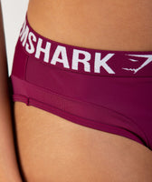 Gymshark Charge Sports Bikini Bottoms - Deep Plum 11