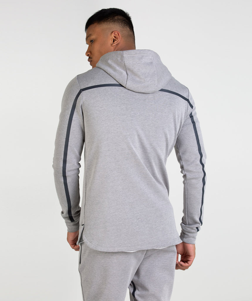 Gymshark Take Over Zip Hoodie - Light Grey Marl 2