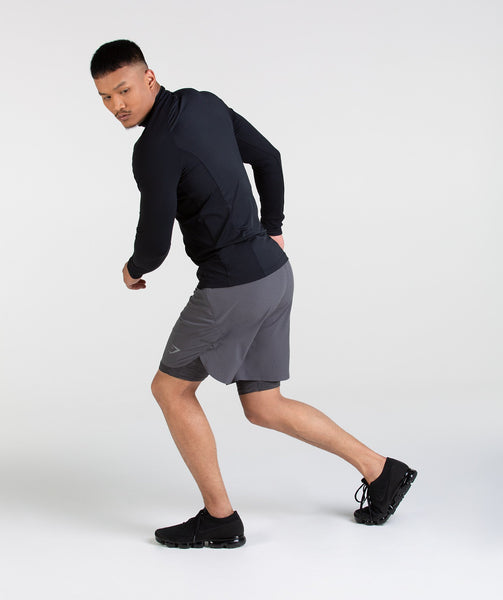 Gymshark Perforated Two In One Shorts - Charcoal 3
