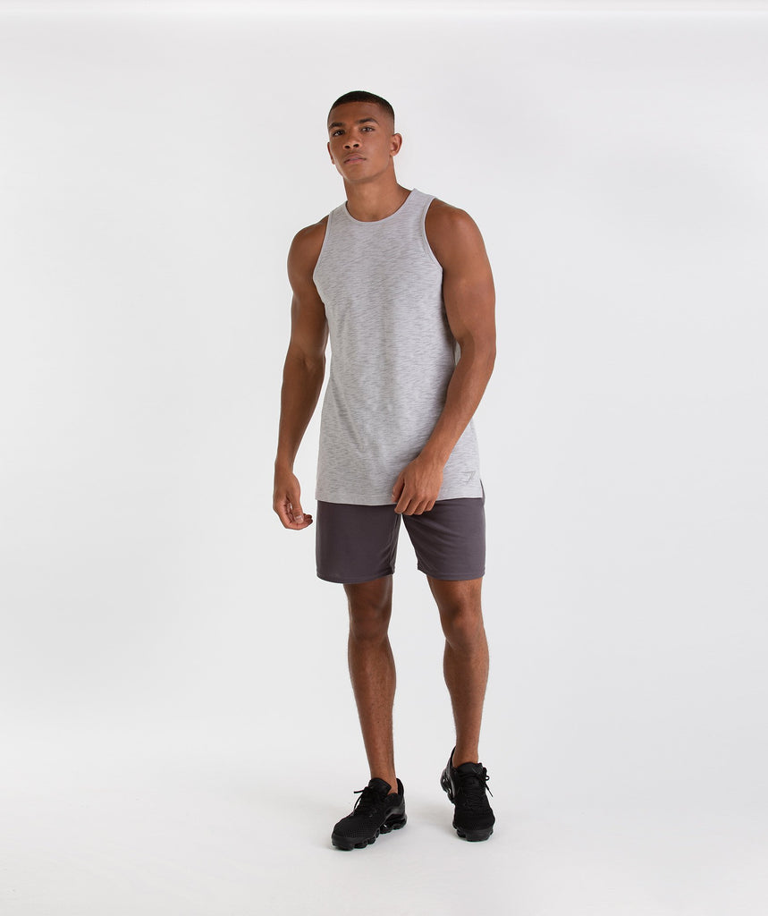 Gymshark Heather Tank - Rustic Grey Marl 6