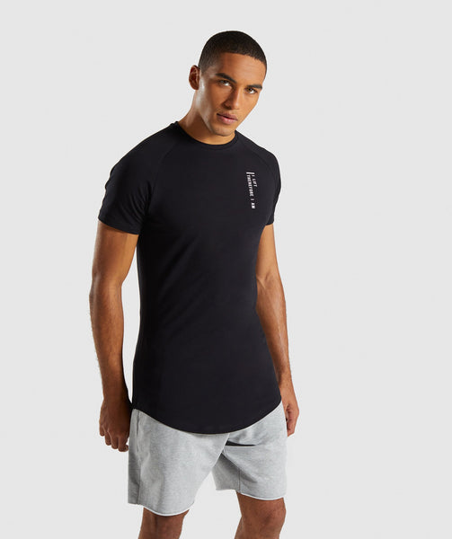 Gymshark Lifting Club T-Shirt English - Black 2