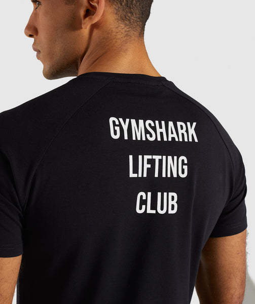Gymshark Lifting Club T-Shirt English - Black 4