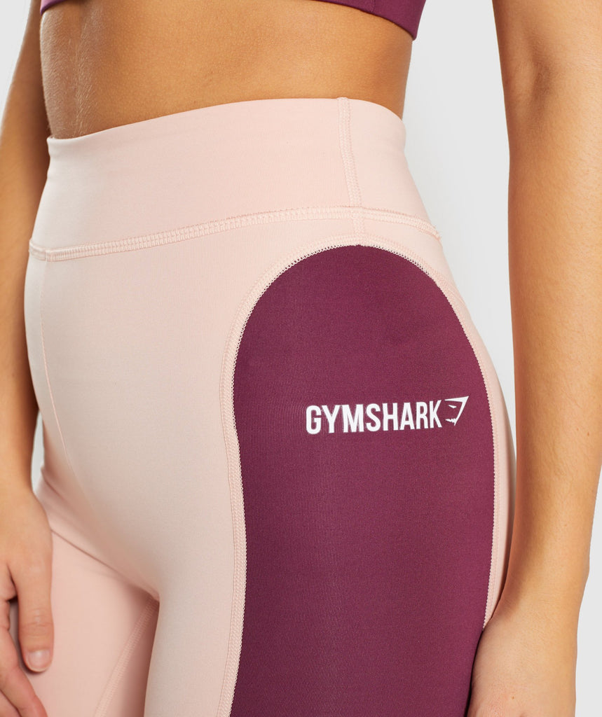 Gymshark Illusion Leggings - Dark Ruby/Blush Nude/Slate Lavender 5