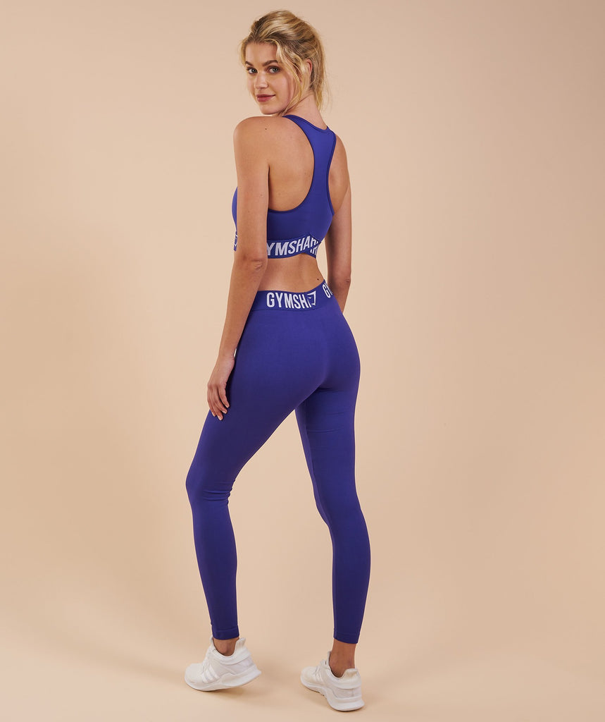 Gymshark Fit Leggings - Indigo/White 2