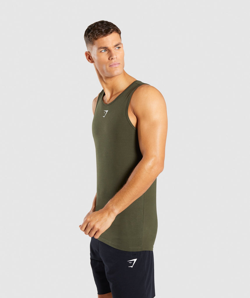 Gymshark Ion Tank - Woodland Green 1