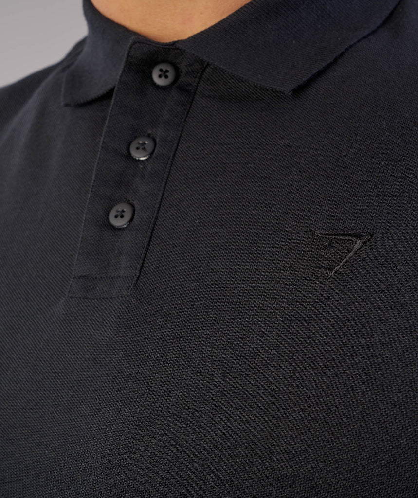 Gymshark Ace Polo - Black 6