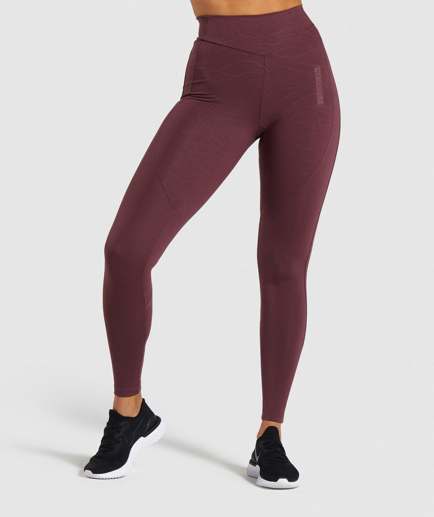 Gymshark Lustre Leggings - Berry Red 1