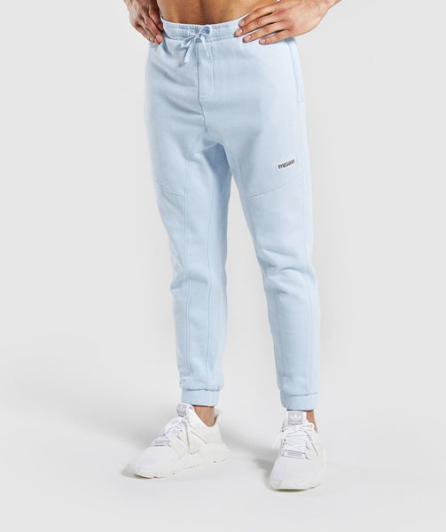 Gymshark Laundered Joggers - Light Blue 4