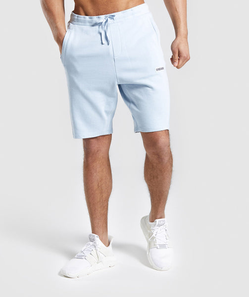 Gymshark Laundered Shorts - Light Blue 4