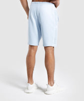Gymshark Laundered Shorts - Light Blue 8
