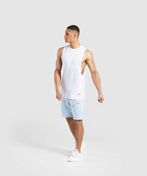 Gymshark Laundered Shorts - Light Blue 3