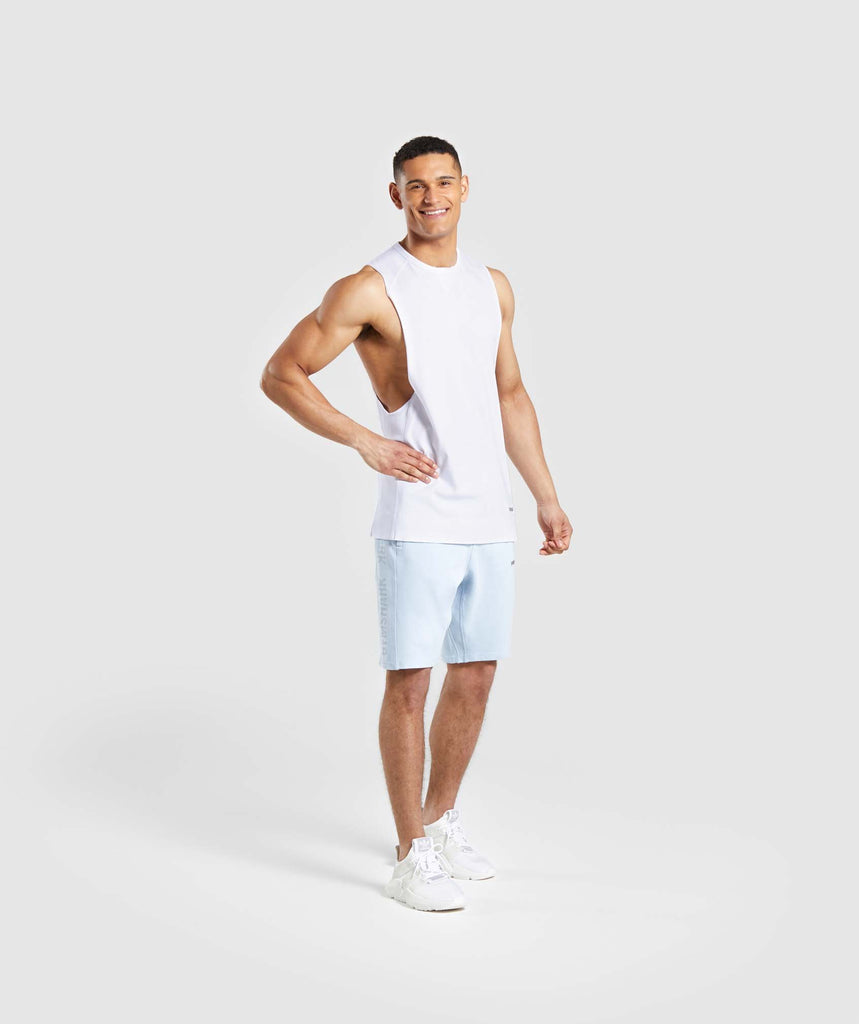 Gymshark Laundered Shorts - Light Blue 5