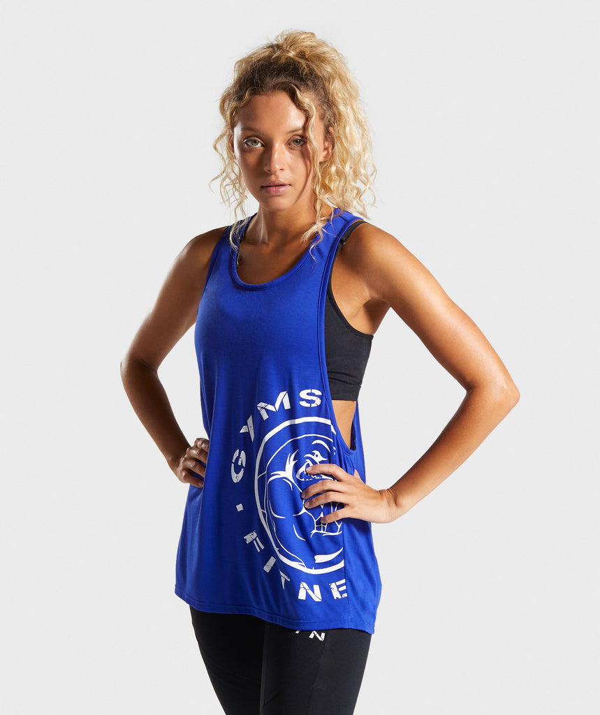 Gymshark Legacy Fitness Drop Arm Vest - Blue 1
