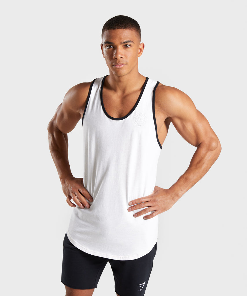 Gymshark Legacy Luxe Tank - Chalk White 1