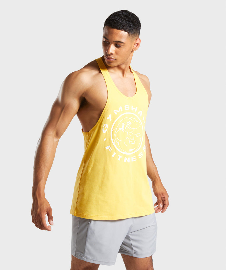 Gymshark Legacy Stringer - Golden Yellow 1