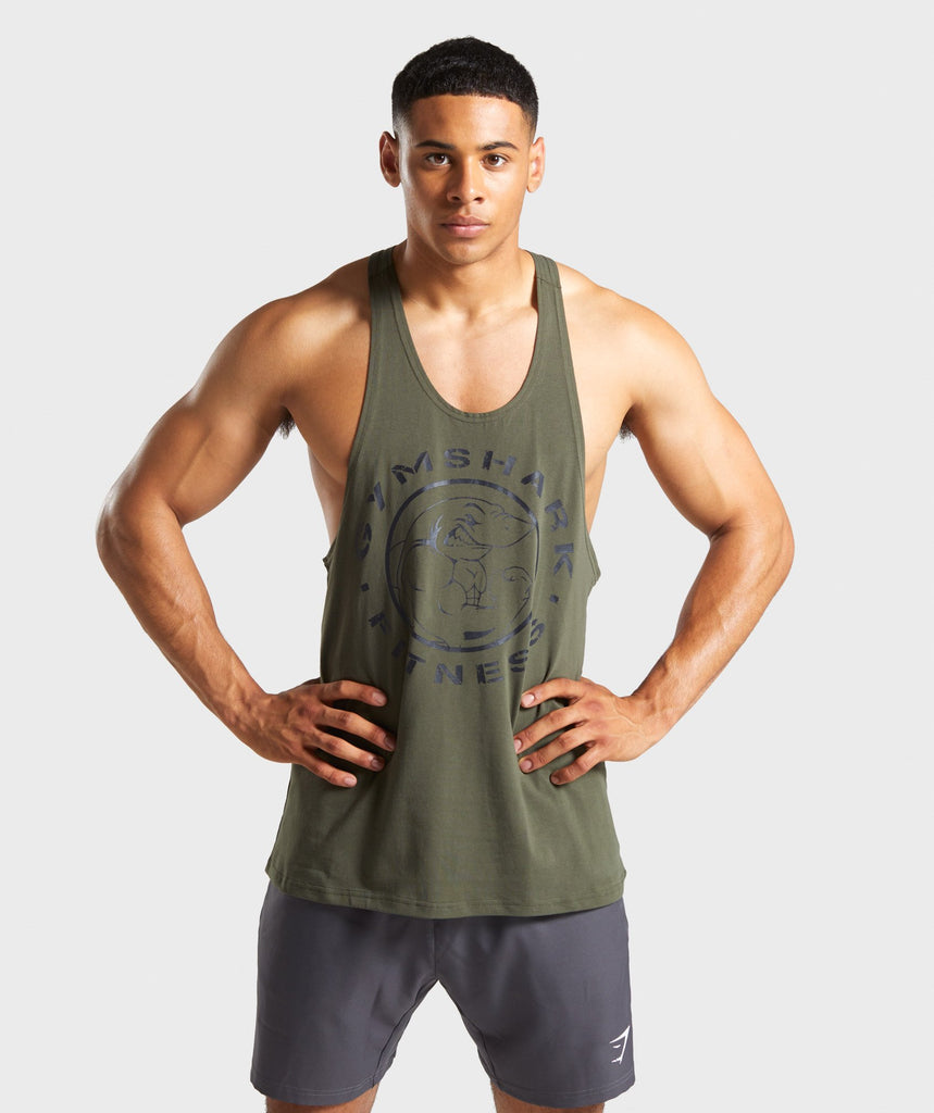Gymshark Legacy Stringer - Dark Green 1