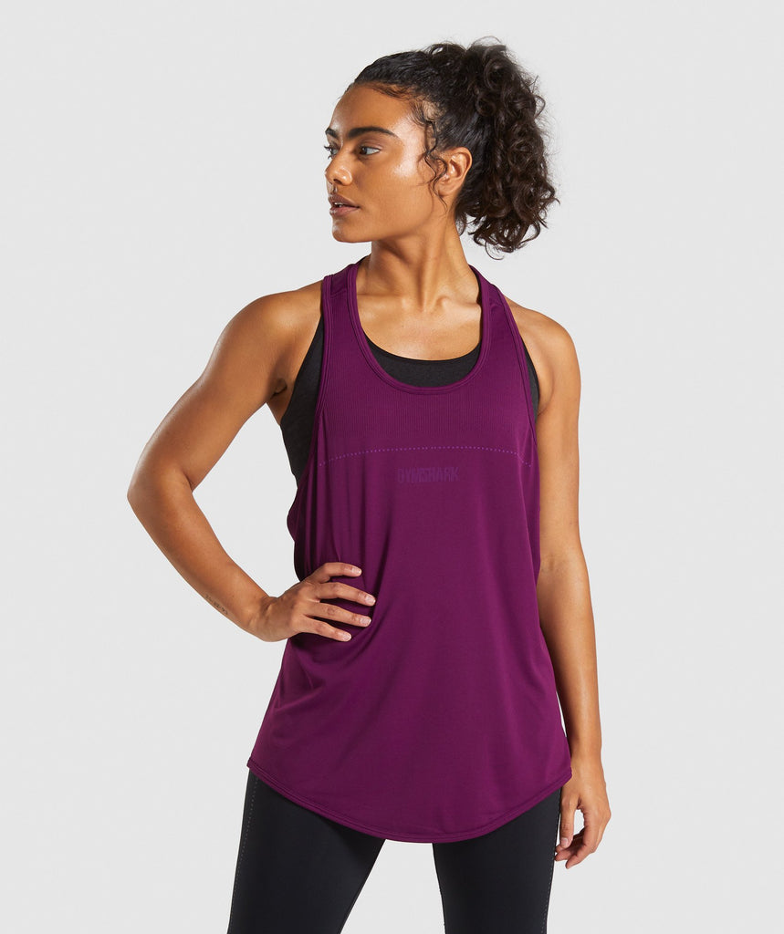 Gymshark Breeze Lightweight Seamless Vest - Purple 1