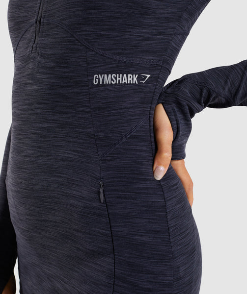 Gymshark Limit 1/2 Zip Pullover - Black Marl 4